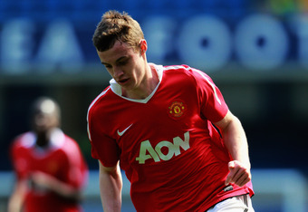 LONDON, ENGLAND - APRIL 10:  William Keane of Manchester United in action during the FA Youth Cup Semi Final 1st Leg match between Chelsea and Manchester United at Stamford Bridge on April 10, 2011 in London, England.  (Photo by Dean Mouhtaropoulos/Getty