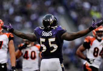 Terrell Suggs' Achilles' injury means Paul Kruger is almost guaranteed a starting outside backer spot this year