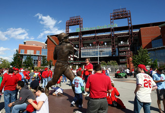 Perhaps fans would congregate around the Joe Carter statue like they do in Philadelphia