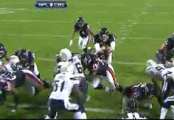 Cutler may be battered and banged up but he'll go over the top for a TD