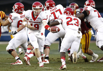 The quarterback question again looms large for the Scarlet Knights this season between Chas Dodd and Gary Nova.