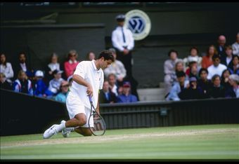 3 Jul 1996:  Pete Sampras of the USA in action during the Wimbledon tennis championships at the all England Club in London, England.                                                                                            Mandatory Credit: Clive Brunski