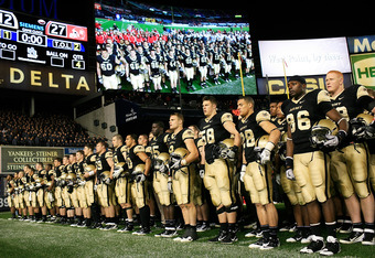 The Army Black Knights battle the Rutgers Scarlet Knights on November 10.
