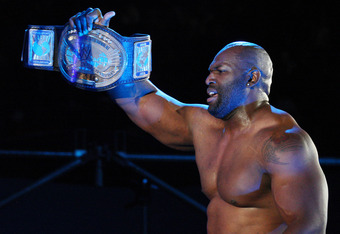 DURBAN, SOUTH AFRICA - JULY 08:  WWE Intercontinental Champion Ezekiel Jackson during the WWE Smackdown Live Tour at Westridge Park Tennis Stadium on July 08, 2011 in Durban, South Africa.  (Photo by Steve Haag/Gallo Images/Getty Images)