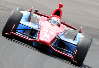 INDIANAPOLIS, IN - MAY 20:  Graham Rahal drives the #38 Service Central car during practice for the Indinapolis 500 at Indianapolis Motor Speedway on May 20, 2012 in Indianapolis, Indiana.  (Photo by Andy Lyons/Getty Images)