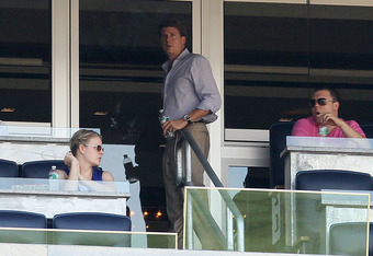 NEW YORK - JULY 18:  Hal Steinbrenner, son of late owner George Steinbrenner, looks on as the New York Yankees play the Tampa Bay Rays on July 18, 2010 at Yankee Stadium in the Bronx borough of New York City. The Yankees defeated the Rays 9-5.  (Photo by