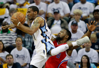 Mike Conley of Memphis is also wearing the Crazy Light 2.