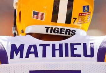 LSU cornerback Tyrann Mathieu