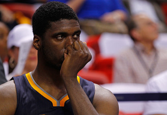 Roy Hibbert didn't see the ball much in the second half