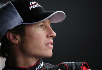LONG BEACH, CA - APRIL 13:  Ryan Briscoe of Australia driver of the Team Penske Dallara Chevrolet during practice for the IndyCar Series Toyota Grand Prix of Long Beach on April 13, 2012 on the streets of Long Beach, California.  (Photo by Robert Laberge/