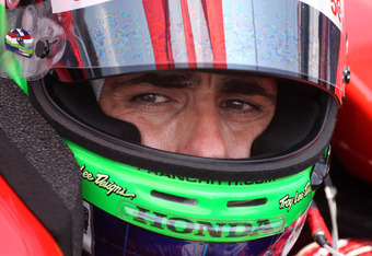 INDIANAPOLIS, IN - MAY 20:  Dario Franchitti waits to drive the Target Chip Ganassi Racing car during practice for the Indinapolis 500 at Indianapolis Motor Speedway on May 20, 2012 in Indianapolis, Indiana.  (Photo by Andy Lyons/Getty Images)