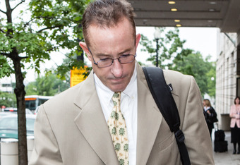WASHINGTON - MAY 14: Brian McNamee, former major league baseball pitcher Roger Clemens' former strength coach, leaves after testifying in the perjury and obstruction trial of Clemens on May 14, 2012 in Washington, DC. McNamee says he injected the pitcherm