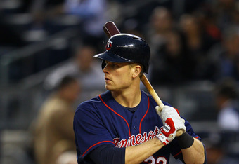 NEW YORK, NY - APRIL 18:  Justin Morneau #33 of the Minnesota Twins  in action against the New York Yankees during their game on April 18, 2012 at Yankee Stadium in the Bronx borough of New York City.  (Photo by Al Bello/Getty Images)