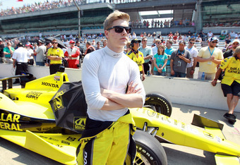INDIANAPOLIS, IN - MAY 19:  Josef Newgarden the driver  of the Sarah Fisher Hartman/Dollar General car prepares for his qualifying run for the Indianapolis 500 at Indianapolis Motor Speedway on May 19, 2012 in Indianapolis, Indiana.  (Photo by Andy Lyons/