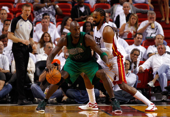 Now 36, KG is the Celtics' leading scorer in these playoffs.