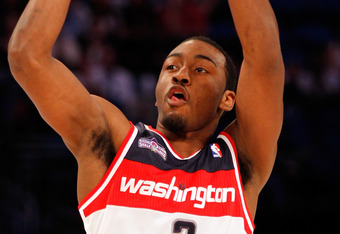 Did the Wizards win the rights to John Wall by luck?