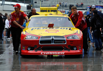 Allmendinger's car being pushed to the garage has been a common sight in 2012.