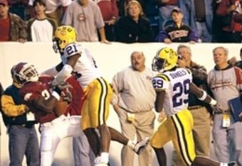 DeCori Birmingham's game-tying touchdown / Photo Credit: Jessica Waldon/The Reveille