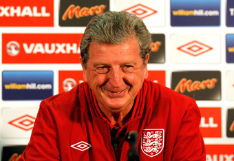 LONDON, ENGLAND - JUNE 01:  England manager Roy Hodgson during a press conference at Wembley Stadium on June 1, 2012 in London, England.  (Photo by Scott Heavey/Getty Images)