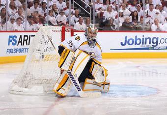 Pekka Rinne of Nashville should be the 2012 Vezina.