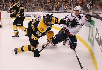 The Bruins' Zdena Chara (33) captures the 2012 Norris as best defenseman.