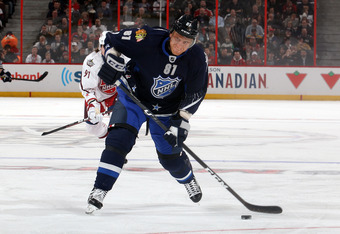 Hossa took part in his fifth All-Star Game this season.