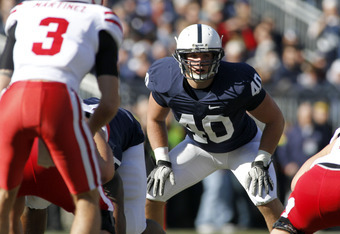 STATE COLLEGE, PA - NOVEMBER 12: Glenn Carson #40 of the Penn State Nittany Lions plays defense against the Nebraska Cornhuskers during the game on November 12, 2011 at Beaver Stadium in State College, Pennsylvania. (Photo by Justin K. Aller/Getty Images)