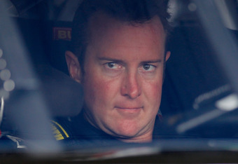 DOVER, DE - JUNE 01:  Kurt Busch, driver of the #54 Monster Energy Toyota, sits in his car in the garage area during practice for the NASCAR Nationwide Series 5-hour Energy 200 at Dover International Speedway on June 1, 2012 in Dover, Delaware.  (Photo by