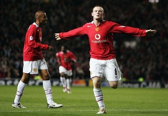 Wayne Rooney scored a hat-trick on his Manchester United debut.