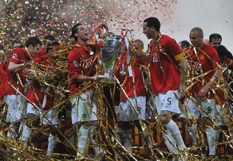Manchester United won the 2007-08 Champions League.