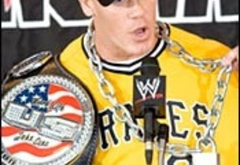 John Cena as U.S. Champ. This picture wasn't taken as long as it probably seems that it was. (Credit WWE.com)