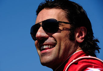 FORT WORTH, TX - JUNE 08:  Dario Franchitti of Scotland, driver of the #10 Energizer Honda Dallara, looks on during qualifying for the IZOD IndyCar Series Firestone 550 at Texas Motor Speedway on June 8, 2012 in Fort Worth, Texas.  (Photo by Robert Laberg