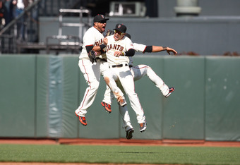 Giants Outfielders Gregor Blanco, Melky Cabrera and Angel Pagan are Having a Ball