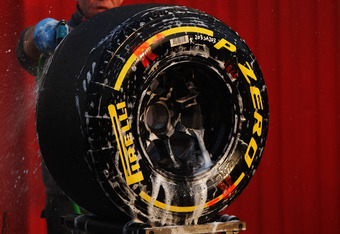 The tyres getting a splash of champagne?