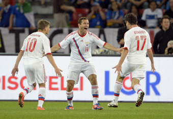 Russia had a 3-0 win in a friendly against Italy going into Euro 2012.