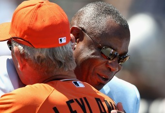 Dusty Baker and Jim Leyland at the All Star Game.
