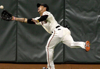 Gregor Blanco is one of several Giants that Matt Cain can thank for his perfect game.