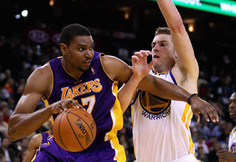 Two similarly paid players, Andrew Bynum and David Lee.