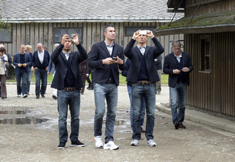 The Dutch National team visits Auschwitz