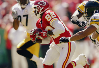 Watching Dante Hall return kicks in 2002 and 2003 is what got my dad and I into Chiefs football.