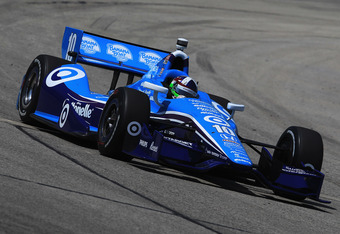 WEST ALLIS, WI - JUNE 16: Dario Franchitti of Scotland, drives the #10 Target Chip Ganassi Racing Honda Dallara during the IZOD IndyCar Series Milwaukee IndyFest presented by XYQ at The Milwaukee Mile on June 16, 2012 in West Allis, Wisconsin.  (Photo by