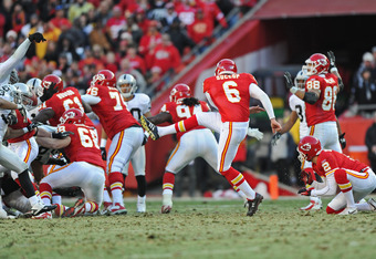 If this kick wasn't blocked, we'd be talking about how the Chiefs will defend their AFC West Championship.