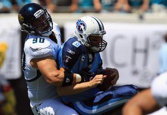 Matt Roth takes down Tennessee QB Matt Hasselbeck