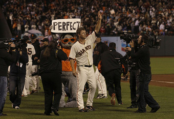 Matt Cain's perfect game may have finally sealed his position as the Giants'  top ace.