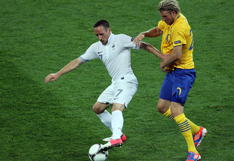 Franck Ribery and France were stifled by Sweden in their final Group D match.