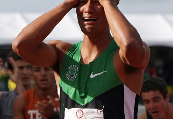 Ashton Eaton had reason to be emotional after completing his world-record decathlon on Saturday.