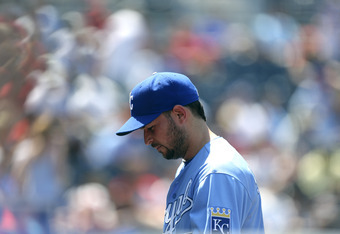 Jonathan Sanchez was not in good spirits on Sunday. Neither were the thousands of Royals fans who bothered to tune in and watch.