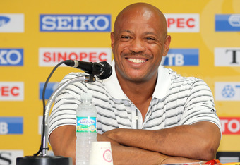Today is all about the press conference, as Maurice Greene headlines a cast of coaches and Olympic alumni