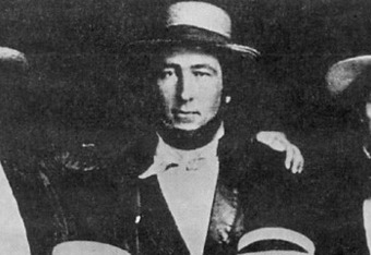 Alexander Cartwright, in a picture of the 1845 New York Knickerbockers