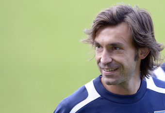 KRAKOW, POLAND - JUNE 26:  Andrea Pirlo of Italy during a training session on June 26, 2012 in Krakow, Poland.  (Photo by Claudio Villa/Getty Images)
